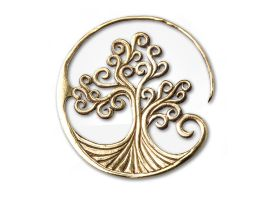 Brass Tree of Life Earring Hanger