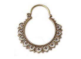 Brass Tribal Heart Earring