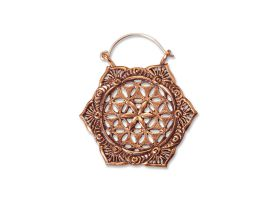 Copper Hoop Earring - style 27