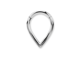 Steel V-shape Hinged Ring - 1.2 x 8