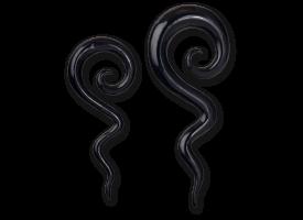 Horn Hanging Spiral