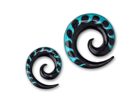 Turquoise Inlaid Horn Spiral - style 3