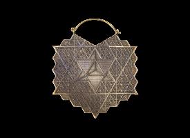 Brass Hoop Earring - style 58