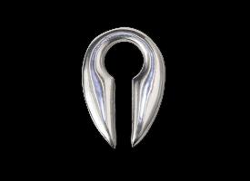 White Brass Keyhole Weight