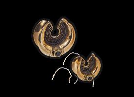Brass Earlobe Spreader - Style 6