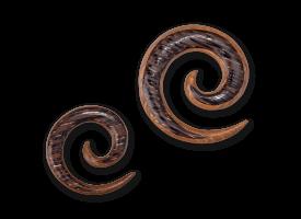 Mixed Palm & Teak Wood Spiral