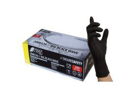 Nitras Black Nitrile Gloves - box of 200