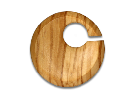 Olive Wood Round Weight
