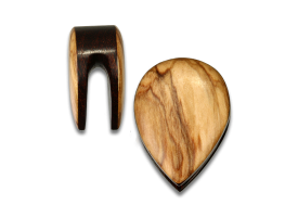 Olive Wood Teardrop Weight