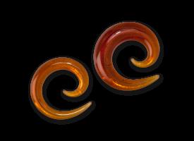 Pyrex Amber Spiral