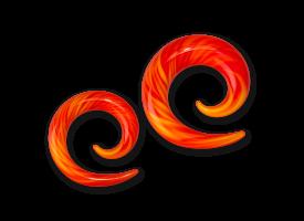Pyrex Fire Spiral