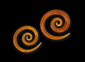 Pyrex Amber Super Spiral
