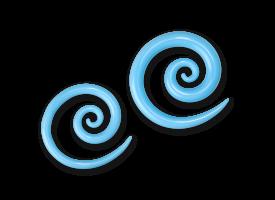 Pyrex Sky Blue Super Spiral