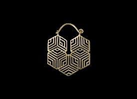 Brass Hoop Earring - style 46