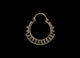 Brass Hoop Earring - style 41