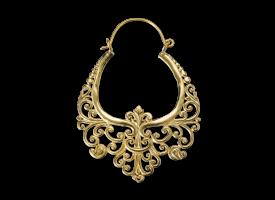 Brass Hoop Earring - style 32