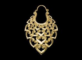 Brass Hoop Earring - style 30