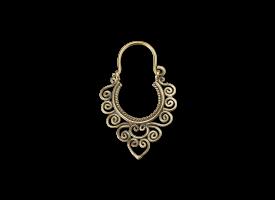 Brass Hoop Earring - style 4