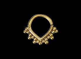 Brass Septum Ring - style 22