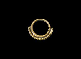 Brass Septum Ring - style 11
