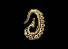Brass Flower Drop Ear Weight