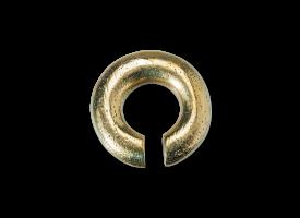 Brass Circle Ear Weight