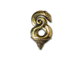 Brass Borneo Twist Ear Weight
