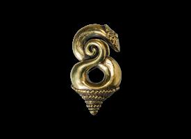 Brass Borneo Twist Ear Weight