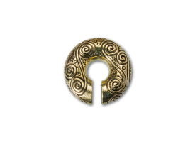 Brass Decorated Circle Weight