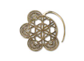 Brass Flower of Life Earring Hanger