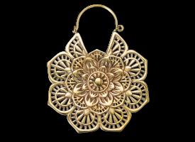 Brass Mandala Flower Earring