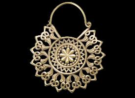 Brass Mandala Earring