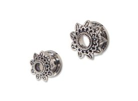 Steel Tunnel with Rhodium Plated Brass Top - Style 3