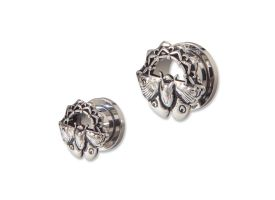 Steel Tunnel with Rhodium Plated Brass Top - Style 4