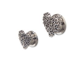 Steel Tunnel with Rhodium Plated Brass Top - Style 8