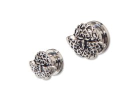 Steel Tunnel with Rhodium Plated Brass Top - Style 9