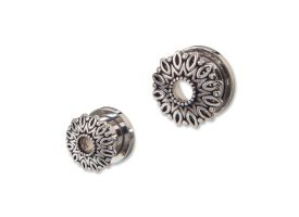 Steel Tunnel with Rhodium Plated Brass Top - Style 11