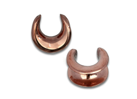 Rose Bronze Earlobe Spreader - Style 1