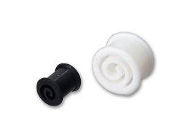 Silicone Swirl Cut Out Plug