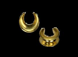 Brass Earlobe Spreader - Style 1