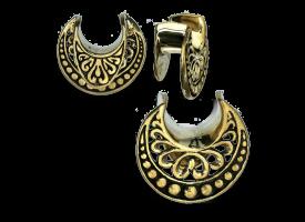 Brass Earlobe Spreader - Style 3