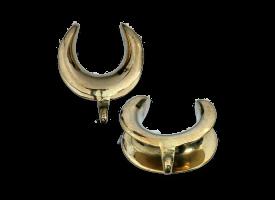 Brass Earlobe Spreader - Style 5