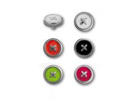 Steel Enamel Cross Button Attachment