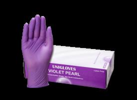 Violet Pearl Nitril Gloves