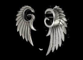 White Brass Angel Wing Plug