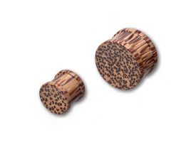 Ribbed Coco Wood Plug